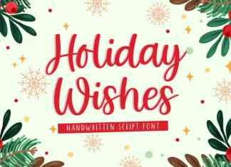 Holiday Wishes Script Font
