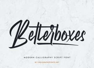 Betterboxes Calligraphy Font
