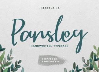 Parsley Script Typeface