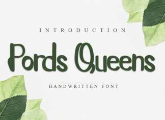 Pords Queens Script Font
