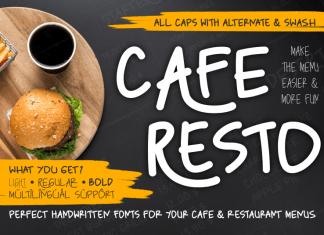 Caferesto Display Font