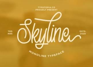 Skyline Monoline Script Font