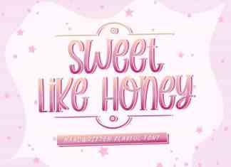 Sweet Like Honey Display Font