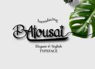 Batousai Calligraphy Font