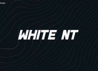 White NT Display Font