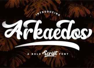 Arkaedos Script Font