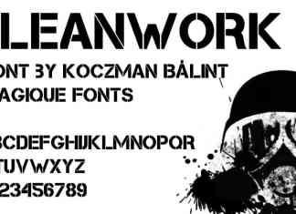 Cleanwork Display Font