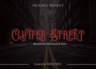Clutter Street Display Font