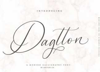 Dagtton Calligraphy Font