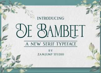 De Bambeet Serif Font