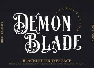 Demon Blade Blackletter Font