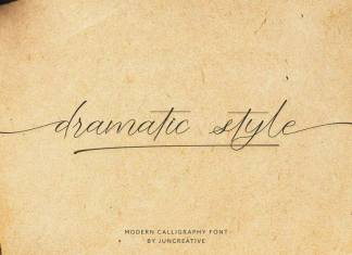 Dramatic Style Calligraphy Font