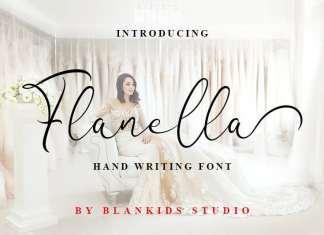 Flanella Handwritten Font