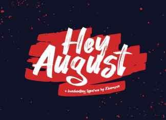 Hey August Brush Font
