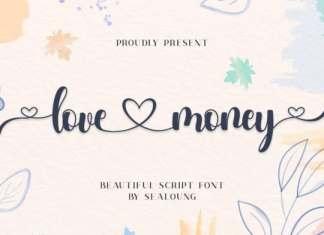 Love Money Calligraphy Font