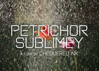 Petrichor Sublimey Display Font