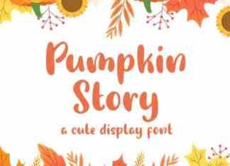 Pumpkin Story Display Font
