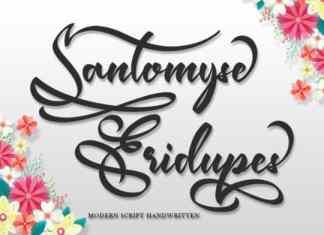 Santomyse Eridupes Script Font