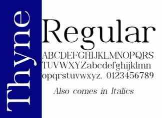 Thyne Serif Font