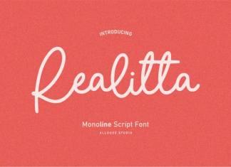 Realitta Handwritten Font