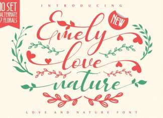 Emely love nature Calligraphy Font