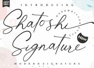 Shatoshi Signature Script Font