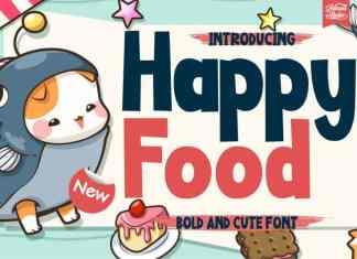 Happy Food Display Font