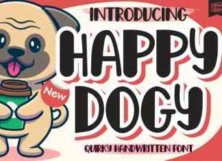 Happy Dogy Display Font