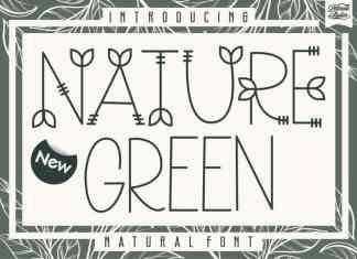 Nature Green Display Font