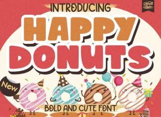 Happy Donuts Display Font