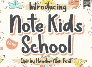 Note Kids School Display Font