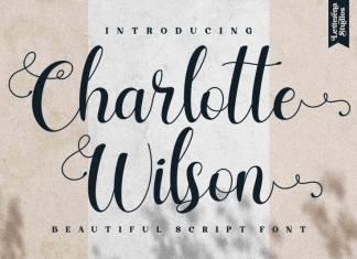 Charlotte Wilson Calligraphy Font