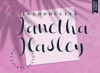 Janetha Hasley Script Font