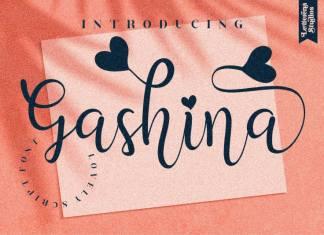 Gashina Handwritten Font