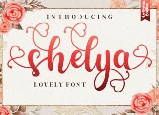 Shelya Calligraphy Font