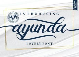 Ayunda Calligraphy Font