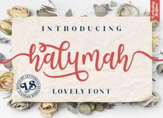 Halymah Calligraphy Font