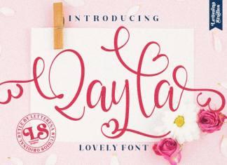 Qayla Script Font