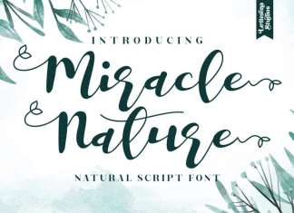Miracle Nature Calligraphy Font