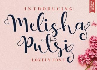 Melisha Putri Calligraphy Font