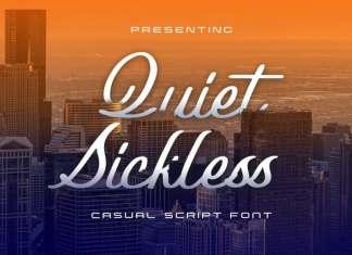 Quiet Sickless Script Font