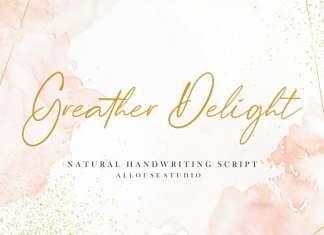 Greather Delight Script Font