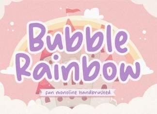 Bubble Rainbow Handbrushed Font
