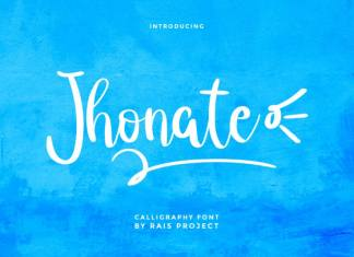 Jhonate Handwriting Font