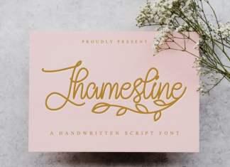 Jhamesline Handwritten Font