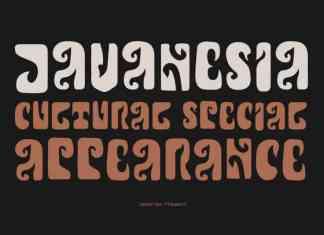 Javanesia Display Font