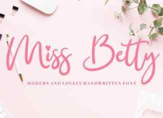 Miss Betty Script Font