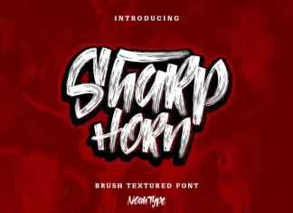 SharpHorn Brush Font
