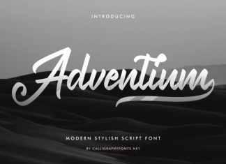 Adventium Calligraphy Font
