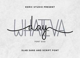 Whateva Day Font Duo